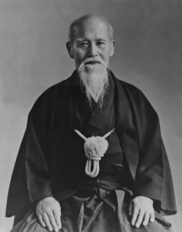 morihei ueshiba maestro aikido cdalgar gimnasio elche